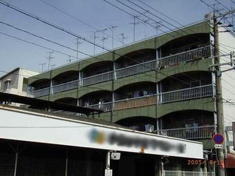 大阪市城東区 マンション外壁塗装リフォーム事例 リフォーム前