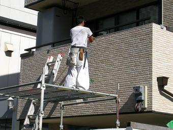 大阪市中央区サイデング補修工事施工例 リフォーム前 その2