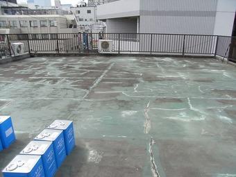 大阪市都島区T様ビル防水工事施工事例 リフォーム前 その3