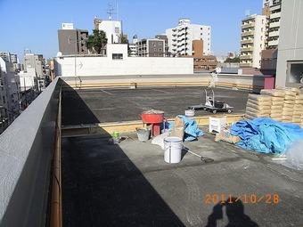 大阪市中央区Nビル屋上防水施工事例 リフォーム前 その3
