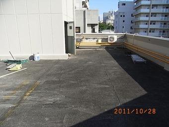 大阪市中央区Nビル屋上防水施工事例 リフォーム前 その2