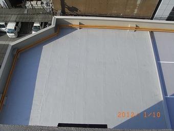 大阪市中央区Nビル屋上防水施工事例 リフォーム後 その2